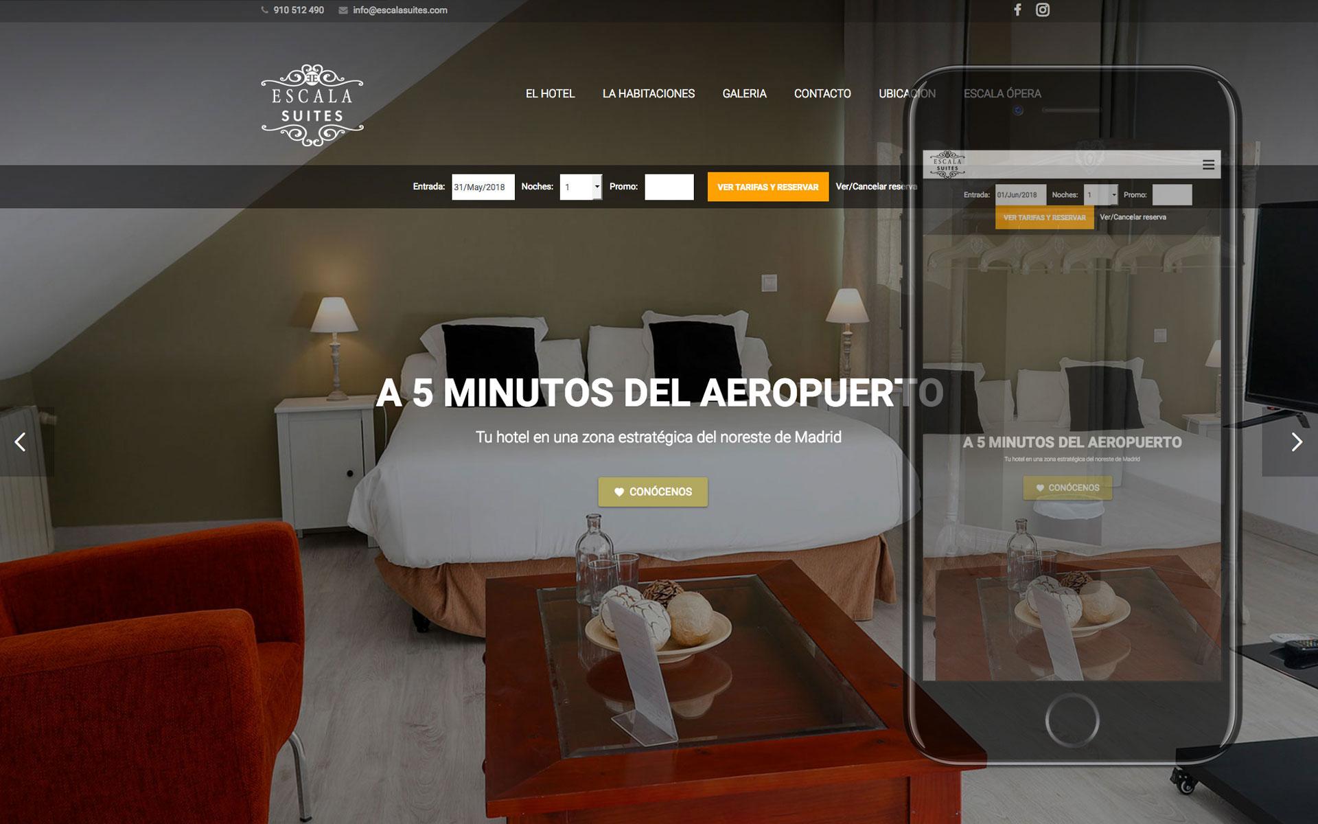 Página web para Hotel Escala Suites