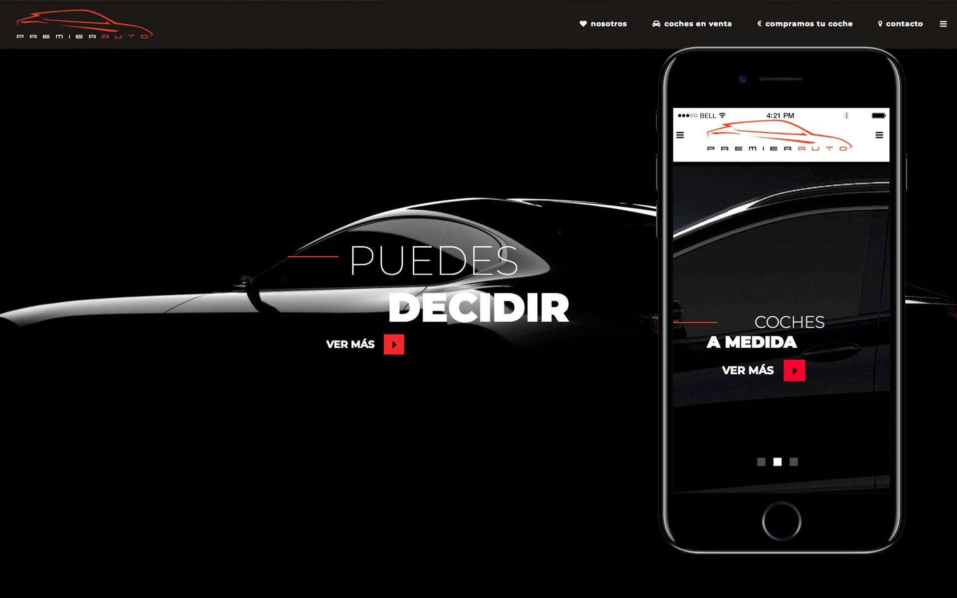 Página web para Premier Autos