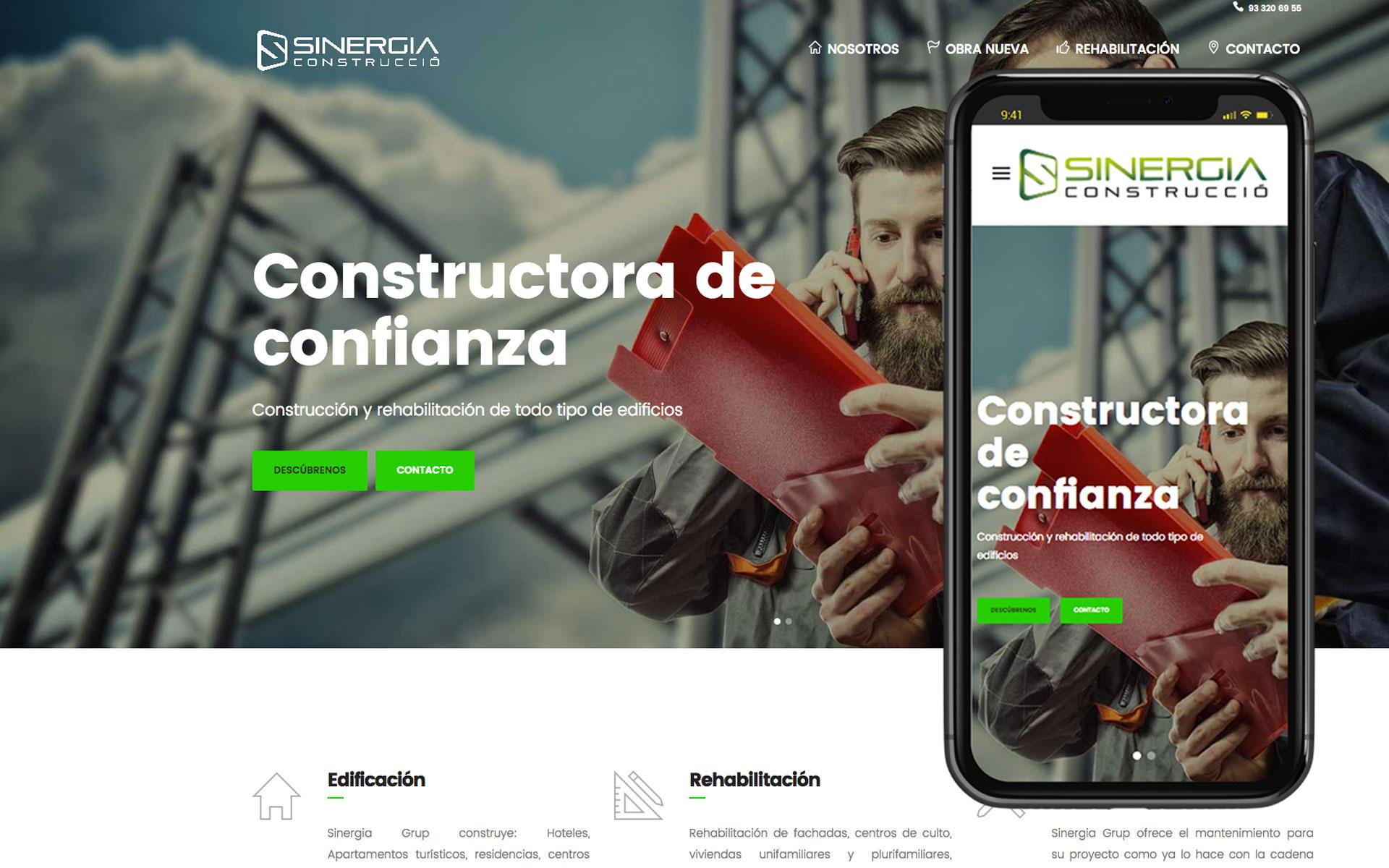 Página web para Sinergia Grup